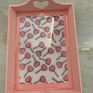 Pink Hearts Lolipop Mini Resin Tray